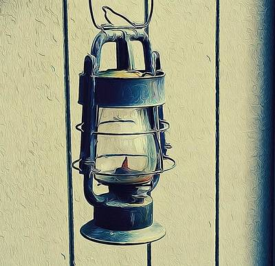 Oregon Art Digital Art - Lantern Out Back by Cathie Tyler