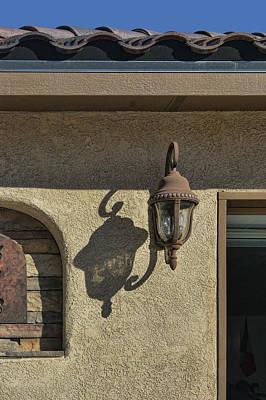 Photograph - Lantern - Shadow - Southwest by Nikolyn McDonald