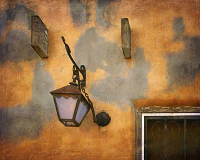 Photograph - Lantern - Vigas - Building Exterior by Nikolyn McDonald
