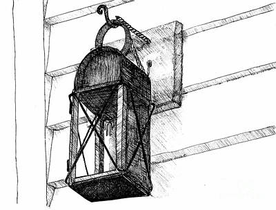 Reconstruction Drawing - Lantern - Welcome Home Beacon by Dawn Boyer