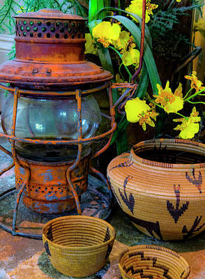 Lantern With Baskets Art Print by Stephen Anderson