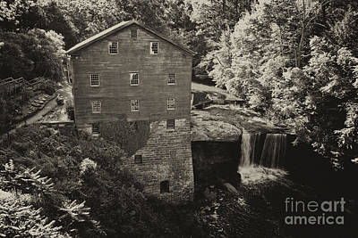 Woods Photograph - Lanternman's Mill Sepia 3 by Pittsburgh Photo Company