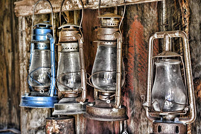 Gas Lamp Photograph - Lanterns by Kelley King