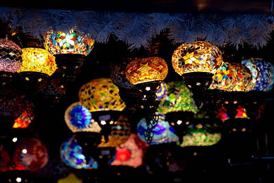 Photograph - Lanterns - Night Light by Perggals - Stacey Turner