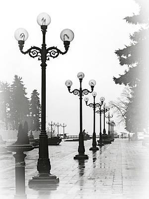 Lanterns Of Mariyinskyi Park. Kyiv, 2015. Art Print