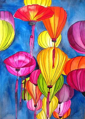 Painting - Lanterns by Sacha Grossel