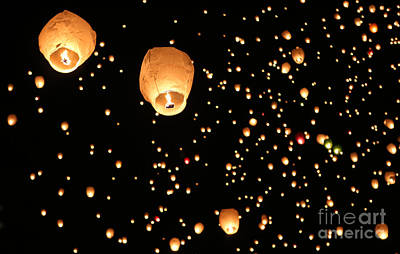 Photograph - Lanterns Upon The Sky by Elizabeth Winter