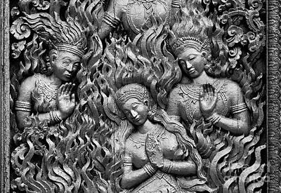 Photograph - Laotian Goddess - Luang Probang Laos by Craig Lovell