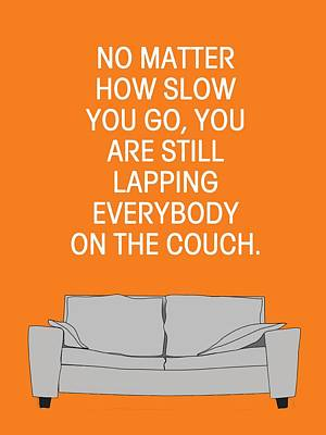 Couch Potato Digital Art - Lap The Couch by Nancy Ingersoll