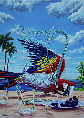 Painting - Lapa Stealing Grape by Michael Cranford