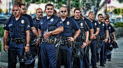 Lapd Photograph - Lapd Safeguarding Lives by Chris Yarzab