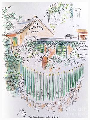 Arty Drawing - Lapin Agile by Barbara Chase
