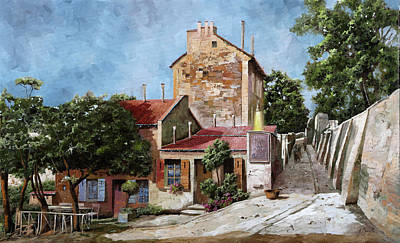 Painting Rights Managed Images - Lapin Agile A Mezzodi Royalty-Free Image by Guido Borelli