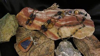 Jewelry - Lapis In Gourd Wood #ff75 by Barbara Prestridge