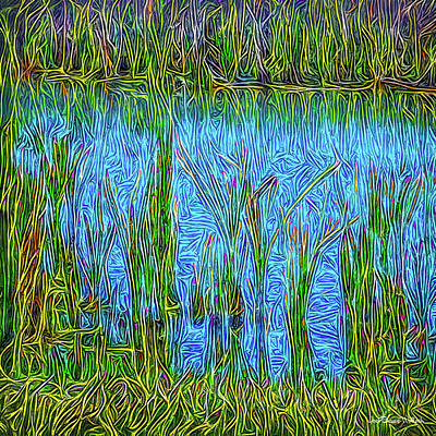 Digital Art - Lapis Lake Reflections by Joel Bruce Wallach