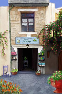 Painting - Lappa - A Cretan Natural Beauty by Sannel Larson