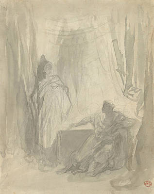 Drawing - L'apparition by Gustave Dore