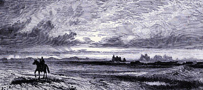 1880s Drawing - Laramie Plains  by American School