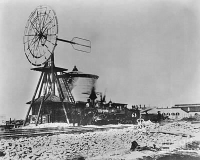 Laramie Photograph - Laramie Rail Yards, C. 1867 by Omikron