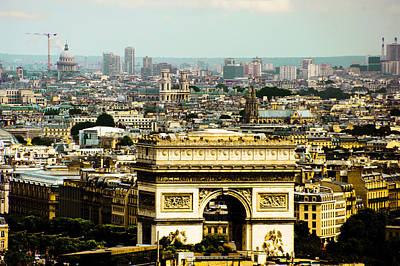 Paris Skyline Royalty-Free and Rights-Managed Images - Larc de triumph  by Patrick Kain