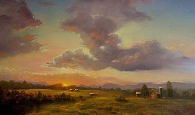 Larch Hill Sunset Art Print by Kevin Palfreyman