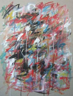 Large Abstract No 4 Art Print by Michael Henderson
