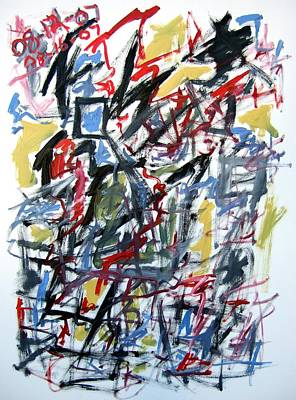 Large Abstract No. 5 Art Print by Michael Henderson