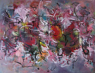 Frenzy Painting - Large Abstract1010 by Seon-Jeong Kim