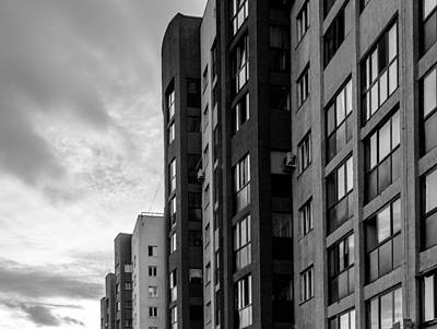 Photograph - Large Apartment Block And Sunset by John Williams