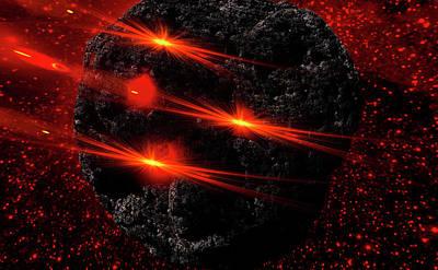 Large Asteroid Art Print