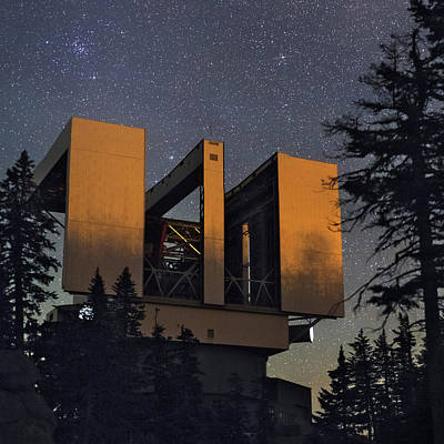 Photograph - Large Binocular Telescope Arizona by Babak Tafreshi