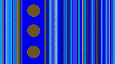Digital Art - Large Blue Abstract - Panel Three by Val Arie