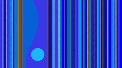 Digital Art - Large Blue Abstract by Val Arie