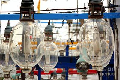 Photograph - Large Bulb Fishing Light Attractors by Yali Shi