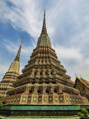 Photograph - Large Colorful Stupa At Wat Pho by Helissa Grundemann