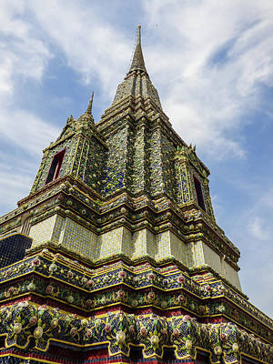 Photograph - Large Colorful Stupa At Wat Pho Temple by Helissa Grundemann