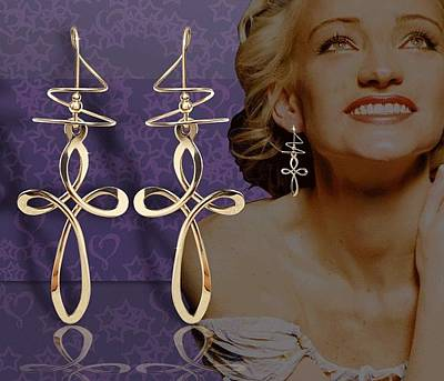 Large Cross Earspirals Original by Harry Mason