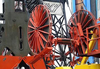 Photograph - Large Dredging Crane by Yali Shi