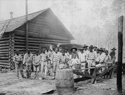 Jim Crow South Photograph - Large Group Of African American Men by Everett
