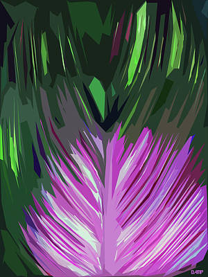 Digital Art - Large Leaf by David Pantuso