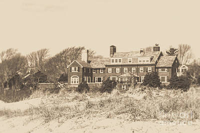 Photograph - Large Luxury Mansion On Cape Cod by Edward Fielding