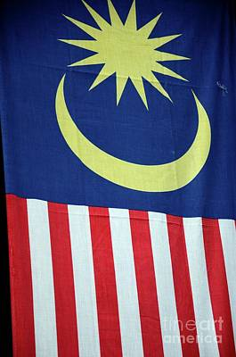 Photograph - Large Malaysia Flag On Doorway Georgetown Penang Malaysia by Imran Ahmed