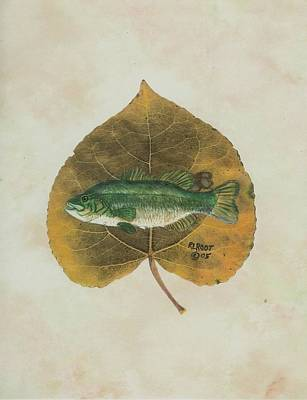 Large Mouth Bass Art Print by Ralph Root