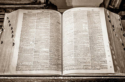Photograph - Large Old Dictionary by Marilyn Hunt