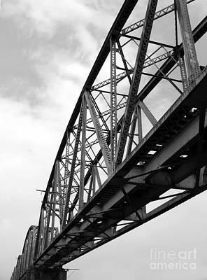 Large Old Railway Bridge Art Print