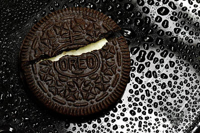 Oreo Photograph - Large Oreo Cookie 1  by Nancy Mueller