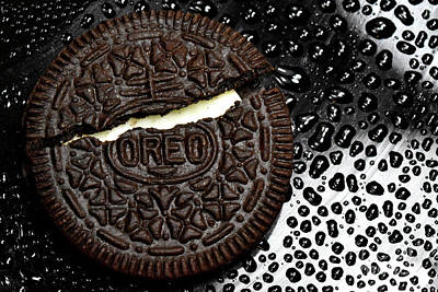Oreo Photograph - Large Oreo Cookie 2 by Nancy Mueller