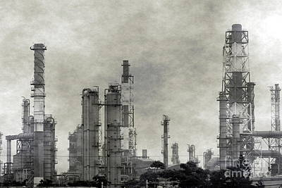 Photograph - Large Petrochemical Complex With Smog by Yali Shi