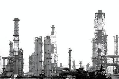 Photograph - Large Petrochemical Complex by Yali Shi