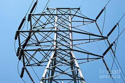 Power Photograph - Large Powerlines 6 by Pittsburgh Photo Company